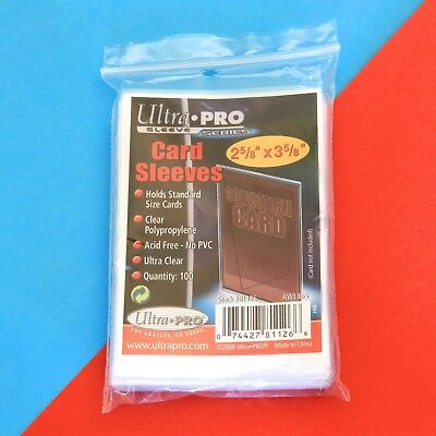 Ultra Pro Standard Card (Penny) Sleeves - Pack of 100 - New & Factory Sealed