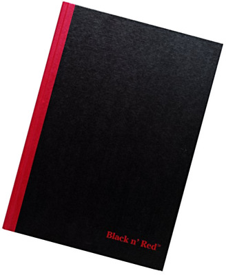 """Black n' Red Business Notebook, 11-3/4"""" x 8-1/4"""", 96 Sheets, Ruled, Hardcover, C"""