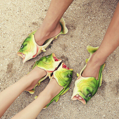 Hot Fish Word Couple Slippers With Flat Beach Slippers Summer Men Wear Sandals