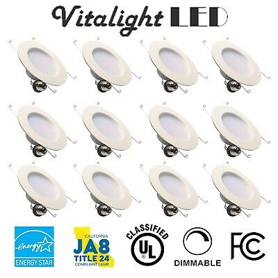 12 Pack DownLight 14W LED Recessed Trim Dimmable 5 6 Inch Retrofit Can Light 19