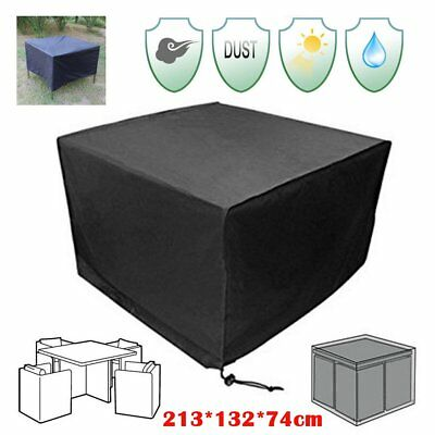 "84"" Waterproof square Outdoor Patio table Cover Furniture Protection Chairs 210D"