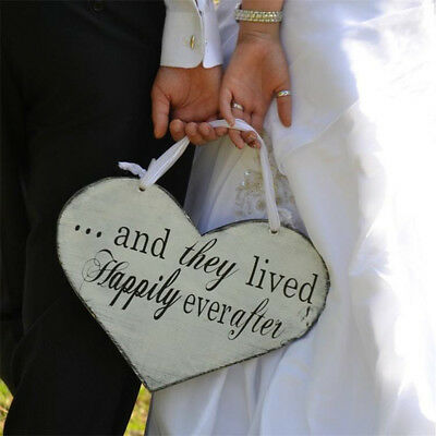 Here Comes the Bride Letter Sign Two Side White Hanging Board Wedding Ceremony