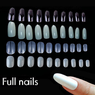 Natural Clear Full French False Nail Tips Art UV Gel Acrylic Pack of 500 600