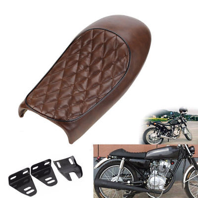 Brown Hump Seat Cafe Racer Vintage Seat Tracker Scrambler Saddle For Yamaha