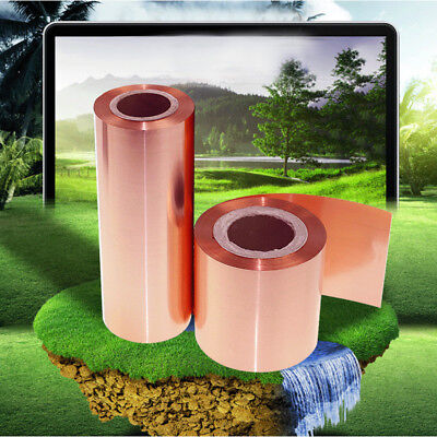 99.9% Pure Copper Cut Metal Sheet Foil Smooth Roll Tape 0.1x100x1000mm Durable