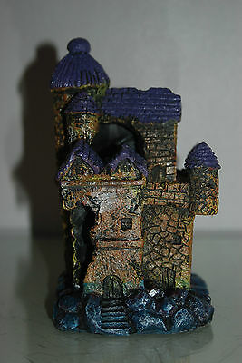 Detailed Aquarium Underwater Castle Decoration Small 13 x 10.5 x 18 cms