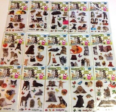 collection COMPLETE 15 planches CUCCIOLOSI STICKERS animaux MILLENIUM TRANSFER