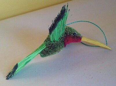 Lovely Natural Brush Art Hummingbird Bird Christmas Ornament - New  LAST 1