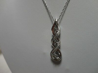 a724ade14 Kay Jewelers Diamond Accent Necklace in Sterling Silver with 18