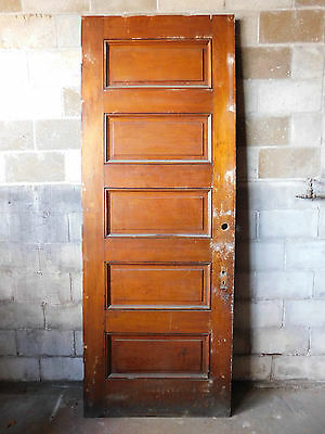 Antique Victorian Interior Door - C. 1885 Butternut Architectural Salvage