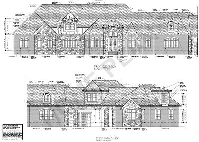 Full Custom Home/House Architectural & Struc. Plans w/ CAD files Plan # P-1347