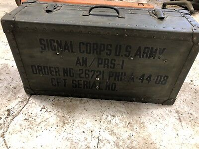 Vintage Army Foot Locker Military Trunk