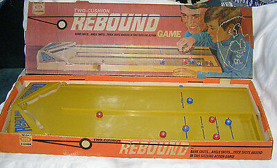 "Vintage 1971 Two-Cushion Rebound Game- By ""Ideal"" Toy Company-Original Litho Box"
