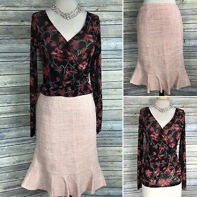 3 Pcs Womens Clothing Outfit Size Large Mexx Top, Size 12 Skirt - BB1
