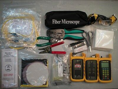 Micro OWL 2 Fiber Optic Kit (w/PCVFL, Singlemode OLTS, Adapters and Test Leads)