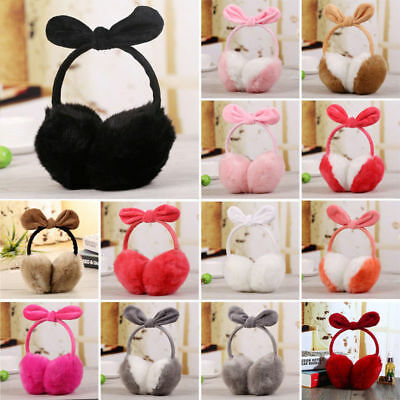 Ladies Girls Earmuffs Cute Furry Ear Muffs Comfy Soft Snow Outdoor Winter