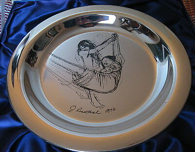 1972 WELLINGS MINT*STERLING SILVER DISH PLATE*CHILDREN of MANKIND ROSENTHAL~178g