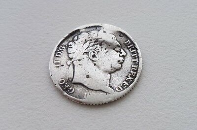 1800s Sixpence George III .925 solid Silver 6d Coin