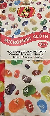 PACK OF 2 Multi Purpose MICROFIBRE Cleaning CLOTHS by JELLY BELLY