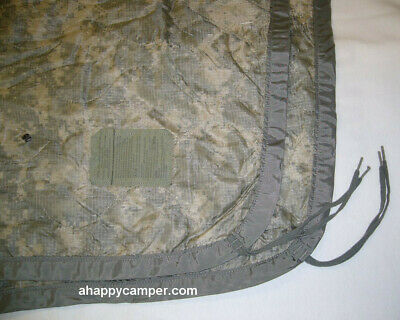 "Genuine US Military Poncho Liner ""Woobie Balnket"" ACU Camo Excellent Condition"