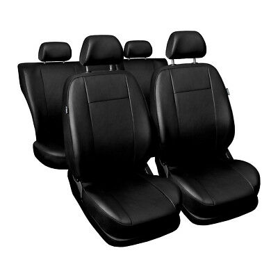 CM-B Black Car Seat Covers Set for BMW 1 E82 E87 E88 F20 F21 F23 (faux leather)