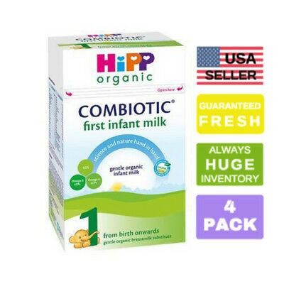 4 HiPP Combiotic UK Stage 1 First Infant Organic Formula, 800g, 0-6 months, PRIO