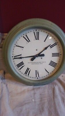Antique Vintage Standard Electric Time Co.School Clock Springfield Mass