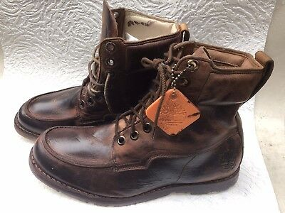 5ace2d0bc305 TIMBERLAND EARTHKEEPERS 8 Eyelet Boots - UK 9M Brown LEATHER💯SAMPLE BOOTS💯