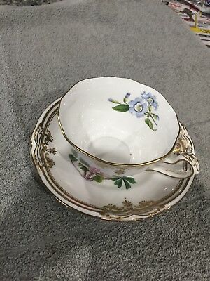 Vintage Royal Chelsea English Bone China Floral Gold Cup & Saucer
