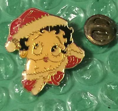 Vintage 80's Betty Boop In The Santa Hat Pin