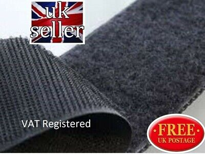 VELCRO® Brand 100mm Sew on Tape  Black 1 metre Hook & 1 metre Loop