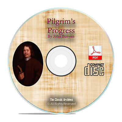 Pilgrim's Progress, by John Bunyan, Christian Biblical Bible Study PDF CD H14