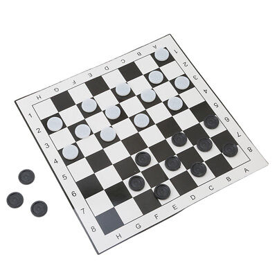 Indoor & Outdoor Giant Checkers Yard Party Game Set With Folding Giant Mat Hot