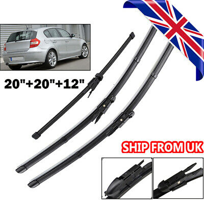 3Pcs/Set Windscreen Wiper Blades Front Rear Window Fit For BMW 1 Series E81 E87
