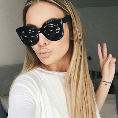 a0501a509 Cat Eye Women Sunglasses Fashion Frame Oversized Vintage Lens Retro Large  Round