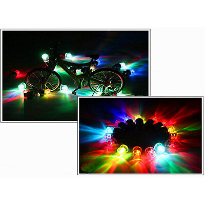 4pcs New Universal Wheel Tyre Tire Air Valve Stem Cap RGB LED Light Lamp Bulb