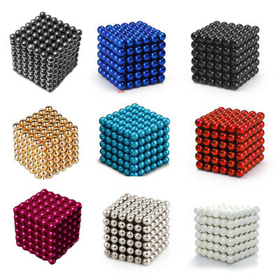 5mm 216pc Magnet Ball Magic Bead 3D Puzzle Ball Sphere Magnetic Kid Toy Luminous