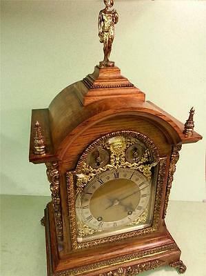 Antique Winterhalder & Hofmeier Ting Tang Oak Cased Bracket Clock 1907