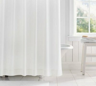 Clearance Plain White Fabric Shower Curtain 2m Long FREE SHIPPING