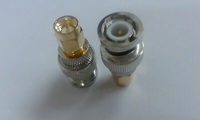 20pcs  BNC Male coax RF TO Gold Plated SMA Male  connector