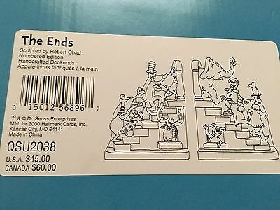 Hallmark Dr. Seuss Bookends The Ends New Mint With Box 1st  numbered Edition