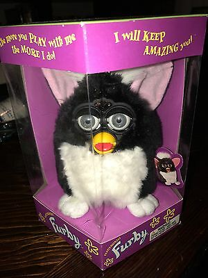 Original 1998 Black And White Furby Model 70-800 MIB Never Opened electronic