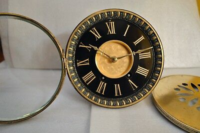 Antique French Marti Mantel Clock Movement With Dial,hands, Back Door, Pendulum.