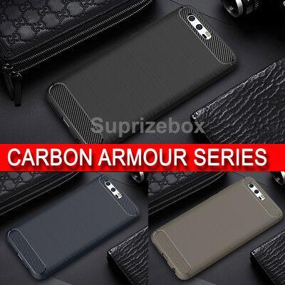 New Rugged Brushed Carbon Shockproof 360 Armour Case Cover For Huawei Honor 9