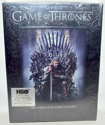 NEW SEALED Game of Thrones The Complete First Season (DVD 2012 5-Disc Set) ~146