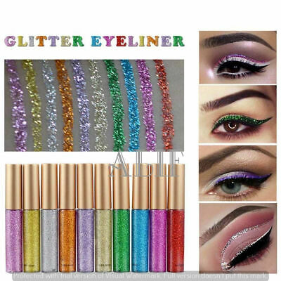 Long-lasting Metallic Sparkling Glitter Liquid Eyeliner Party Makeup Eye Liner