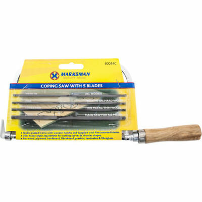 """6.5 """" COPING SAW 5 BLADES MAKING TURNING CUTS CURVES CIRCULAR THINNER new"""