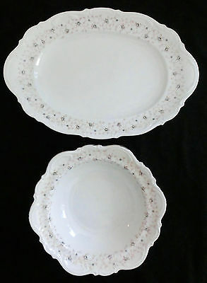 "2 pc Set Mitterteich LADY LINDA 14.75"" Platter 9.75"" Serving vegetable bowl"