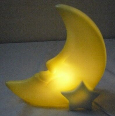 "MAN IN THE MOON CHILD'S NURSERY NIGHT LIGHT STAR PLANET BABY 10"" x 8"""