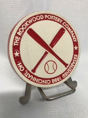 The Rookwood Pottery Company Baseball Tile Coaster Redlegs Cincinnati Reds